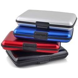 TOOGOO (R) Impermeable ID de empresa de tarjeta de credito titular carpeta de aluminio caja de metal caja (color al azar)
