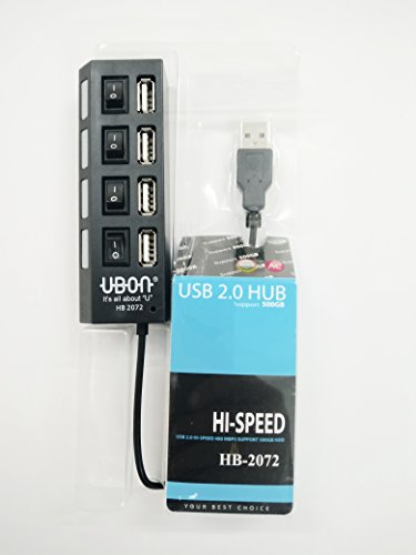 GREAT INDIAN SALE 2017!MOBILE ACCESSORIES SALE!SUMMER SALE!!USB Hi-Speed 4-Port USB Super Hub with individual power switches & Led it support up to 500 GB -Compatible for DELL HP Lenovo sony acer Samsung Panasonic Toshiba iBall Micromax Microsoft Laptops & Computers also for Android Mobiles/ Tablets, Iphone / Ipads, , MP3 Players & Gaming Consoles Etc-EZ041(Black)