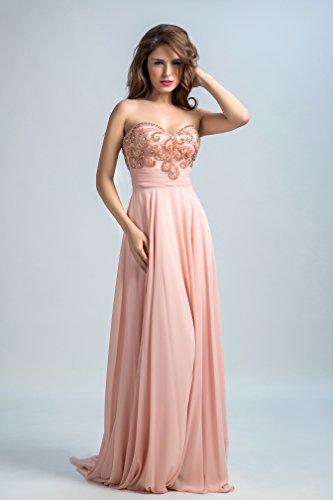 Bridal_Mall - Robe de mariage - Trapèze - Femme - light-coral