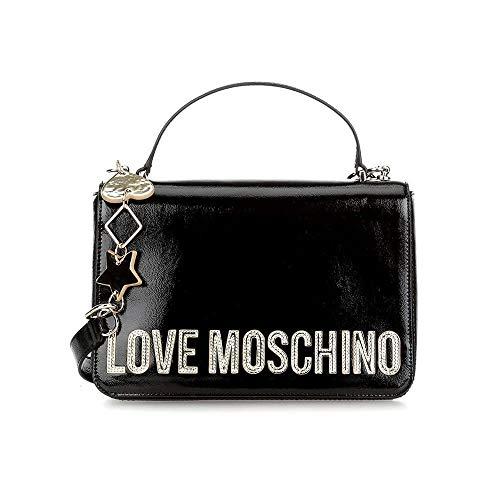 Love Moschino Peace Love and Stars Schultertasche schwarz