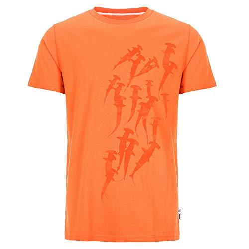irt Hammerhead Swarm in orange für Taucher mit coolem Hammerhai Motiv ()