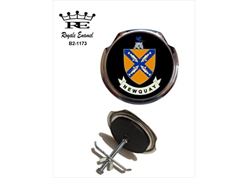 Preisvergleich Produktbild Royale Emaille Royale Car Grill Badge – Newquay in England B2. 1173