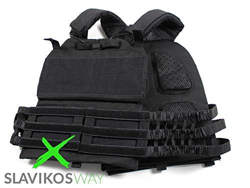 SlavikosWay Gewichtsweste Training 9,1kg inkl. Gewichtsplatten Calisthenics 9010015