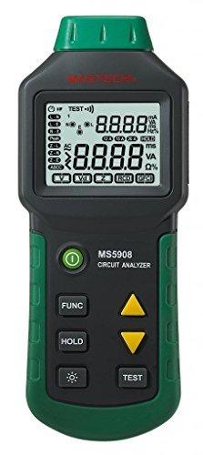 Mastech MS5908 Circuit Analyzer TRMS GFCI RCD Tester Messgerät für 220V Spannung (Suretest Circuit Analyzer)