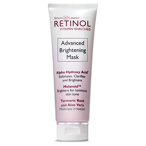 Masque éclaircissant avancé Retinol - Le traitement anti-âge original Retinol 10-Minute - Exfolie, éclaircit et lisse la texture pour une peau d'apparence plus jeune et une luminosité restaurée