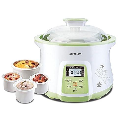 LIUYU Cuisinière à gaz électrique de 2,3L Cuisinière pour bébé Cuiseur de soupe Conjee Cuisinière à ragoût