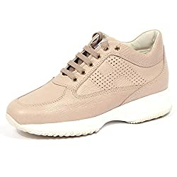 4059J Sneaker Donna Beige HOGAN Interactive H forata H Perforated Shoe Woman 37