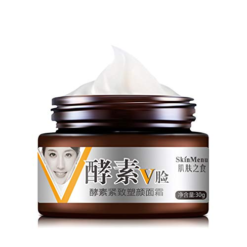 Allbesta Face Slimming Cream Enzyme Firming V-shape Lifting V line and Tightening Double Chin Reducer - Double-bottom-line