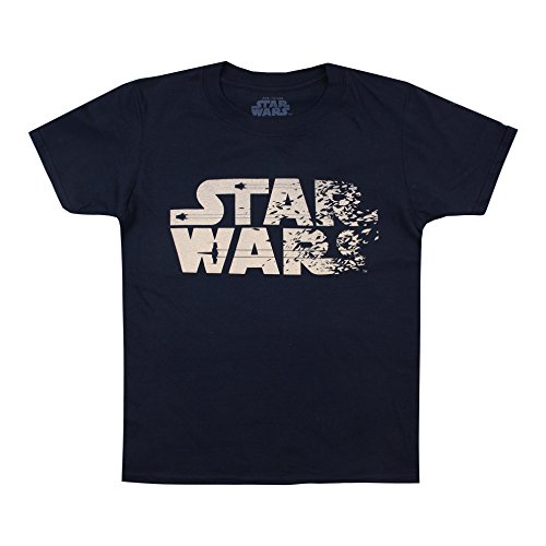 Star Wars Jungen T-Shirt Rebel Text, Blau (Marineblau), 9-10 Jahre (Rebel Kind Shirt)