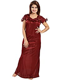 Shopping Station women satin nighty_free size_solid_1 nighty