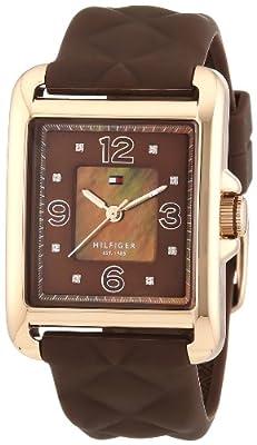 Tommy Hilfiger 1781245 - Reloj de Cuarzo para Mujer, Correa de Silicona Color marrón