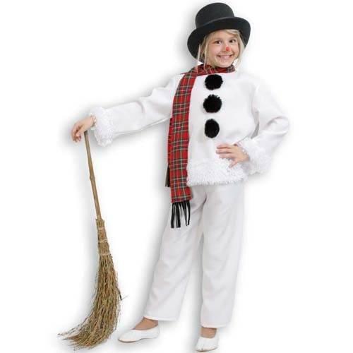 Kinder-Kostüm Schneemann, 3 tlg. Gr. (Schneemann Zubehör Kostüm)