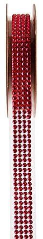 Decorative Diamante Heart Sticker–15mm x 1m Ribbon Rhinestone Ribbon Guest