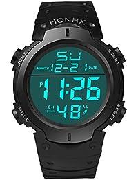 Digital, montres Ourmall Mode étanche pour homme garçon LCD Digital Chronomètre Date en caoutchouc Sport Montre bracelet