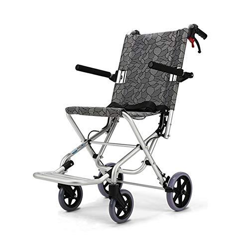 "QIDI Rollstuhl Falten Aluminiumlegierung Leichtgewicht Ã""ltere Menschen Reisen Wagen"