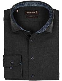 JACQUES BRITT Herren Hemd Roger Brown Label Custom Fit 233660-035 schwarz/anthrazit leicht meliert Größen: 39 40 41 42 43 44