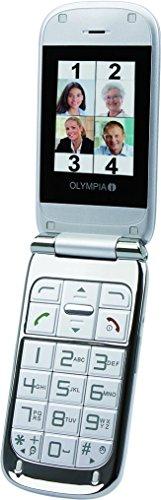 OLYMPIA 2242 Komfort-Mobiltelefon mit Großtasten/Farb-LC-Display Modell Becco Plus silber