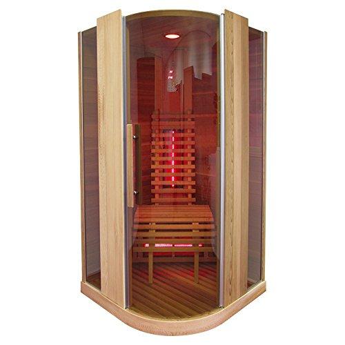 Infrarotkabine | Infrarot | Wärmekabine | Infrarotsauna | Sauna 100 x 100 I Red Zeder Holz, Strahler Art:Full Spectrum Strahler