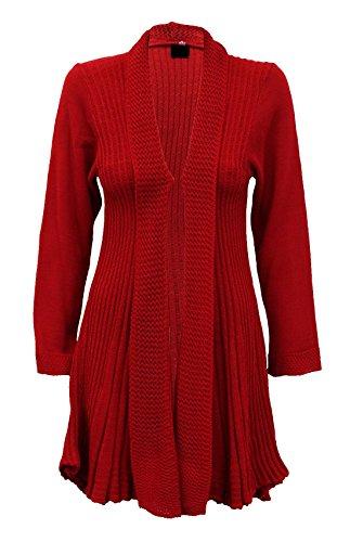 Islander Fashions -  Maglione  - Donna Rosso