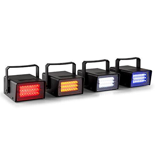 Beamz Mini LED-Stroboskop im 4er Set Lichteffekt Strahler in RGBW Farbspektrum (4x10W Leistung, Automatikmodus + manuelle Geschwindigkeitseinstellung, Wand- und Deckenmontage mögl.)