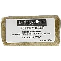 JustIngredients Essential Sal de Apio - 5 Paquetes de 100 gr - Total: 500 gr