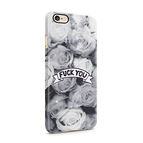 Fuck You Tumblr Rose Pattern Hard Plastic Protective Snap On Case Cover For Apple iPhone 6 , iPhone