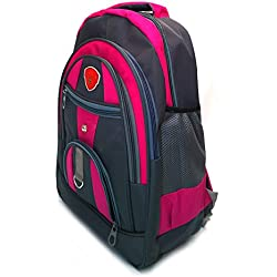 Vintage Stylish Unisex Casual, College Backpack-Black And Pink(Bag 195258)