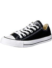 Converse Chuck Taylor All Star Ox, Zapatillas de Tela Unisex Adulto, Negro (Black/White), 38 EU