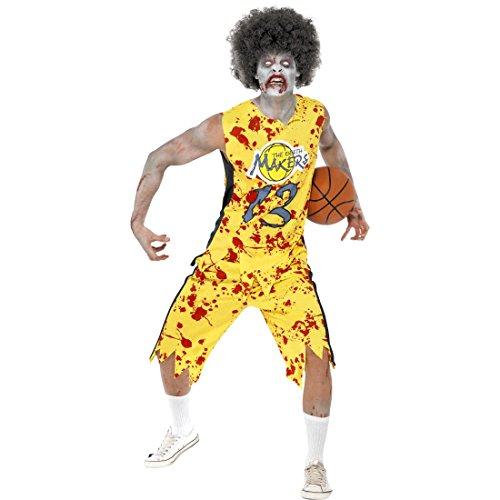 Zombie Basketball Kostüm - NET TOYS Basketball Zombiekostüm Zombie Kostüm M 48/50 Sportler Halloweenkostüm Horror Basketballer Herrenkostüm Monster Faschingskostüm Halloween Horrorkostüm Karneval Kostüme Herren