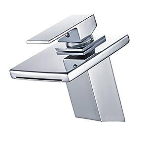 AuraLum Grifo para Lavabo baño Grifo Mezclador Monomando Lavabo Mezclador Lavabo Grifo