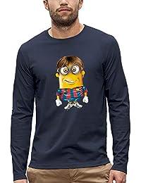 PIXEL EVOLUTION Camiseta de Manga Larga Messi Minion Hombre d1db1af8c76