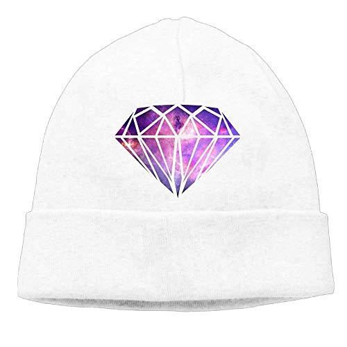 Momen s Galaxy Diamond Logo Casual Style Travel Black Beanies Skull Cap 0baecb3cb8f9