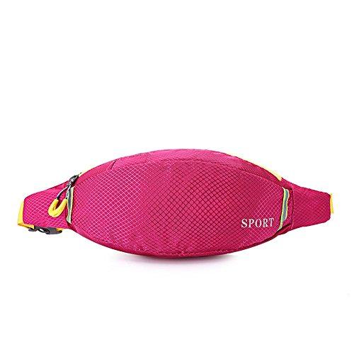 BUSL Frau Wandern Hüfttaschen Sport wasserdichte Outdoor persönliches Telefon Stealth Mini-Tasche läuft rose red