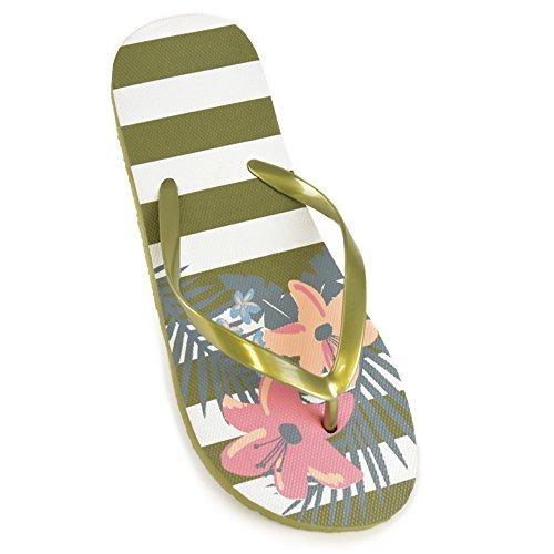 DINZIO Dames Bloemen Print Flip Flops