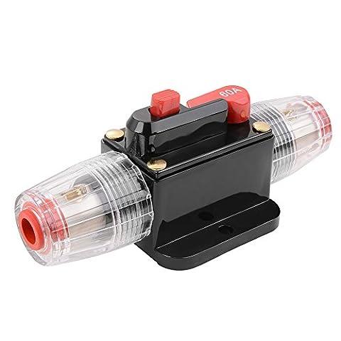 XCSOURCE 60A AMP DC 12V Auto Stereo Audio Inline Strom Schalter Ersatz Sicherung Halterung Schutz für Auto (Elektrische Breaker Ersatz)