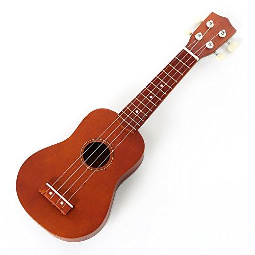 Bambini 21inch piccola chitarra in legno orsetto Puzzle Bambini Uklele, Coffee - Legno Bambino Hanger