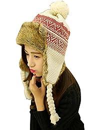 Baymate Unisexo Gorro de Invierno Caliente Con Orejeras Aviador Sombrero de Esquí con Borla