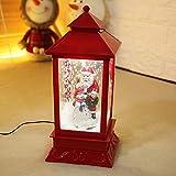 MGZDH Weihnachten Laterne, leuchtende elektrische Schnee Pendel Beleuchtung Hotelszene Layout Dekoration 19 * 19 * 41 cm