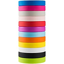 Green House 12 x Bracelet Silicone Blank Wristband Multicolore