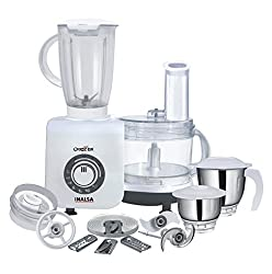 Inalsa Craze Dx 700-Watt Food Processor (White/Grey)
