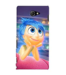 Printvisa Premium Back Cover Animated Blue Hair Girl Design For Sony Xperia M2 Dual D2302::Sony Xperia M2