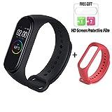 Nishci Mi Band 4 Bracelet à Bande Intelligente avec écran Couleur Surveillance du Sommeil Étape Compteur de Calories Fitness Tracker Étanche sans Fil Bluetooth 5.0 Bracelet pour Hommes et Femmes