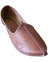 Kalra Creations Hombre Tradicional Hecho a Mano de Seda India Boda Zapatos, Color, Talla 44.5 EU
