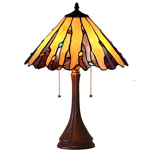 Light-GYH Tiffany-Art-Tischlampen, dekorative Schreibtischlampen des Buntglas-kreativen Hotels, Büro, Hochschulwohnheim, Esszimmer, Mädchen-Raum-Licht E27 MAX 40W * 2 -