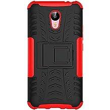 "Funda Duro Tapa Case Cover - TOOGOO(R)Para Meizu M2 Note(5.5""), Funda Carcasa Duro Tapa Case Cover con soporte (rojo) + Gratis aguja de la pantalla stylus universales"
