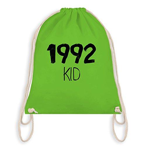 Geburtstag - 1992 KID - Turnbeutel I Gym Bag Hellgrün
