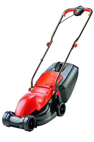 Flymo Easimo Electric Wheeled Rotary Lawnmower, 900 W – Orange/Black