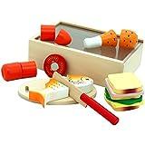 Viga - Caja con comida de madera para cortar