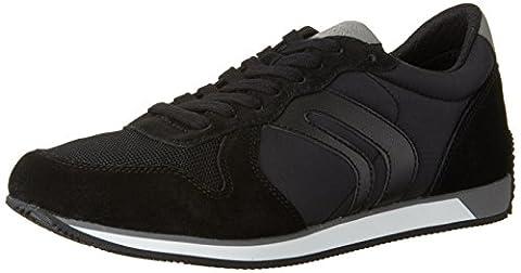 Geox Herren U Vinto C Low-Top, Schwarz (BLACKC9999), 42 EU