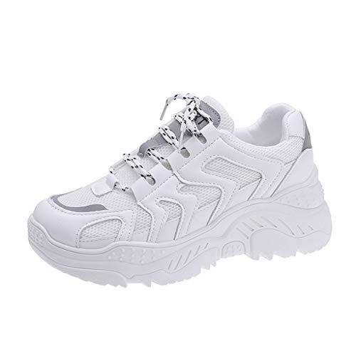 Sneakers Running Invernali Scarpe da Ginnastica Basse Donna Scarpe Donna Scarpe Eleganti Donna Scarpe Sportive Donna Mesh Traspirante Casual con Suola Spessa Sneakers Donna